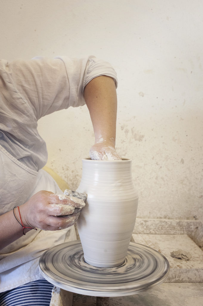 One day in Galatea's Pottery and Art Studio attending the making of a ceramic pottery