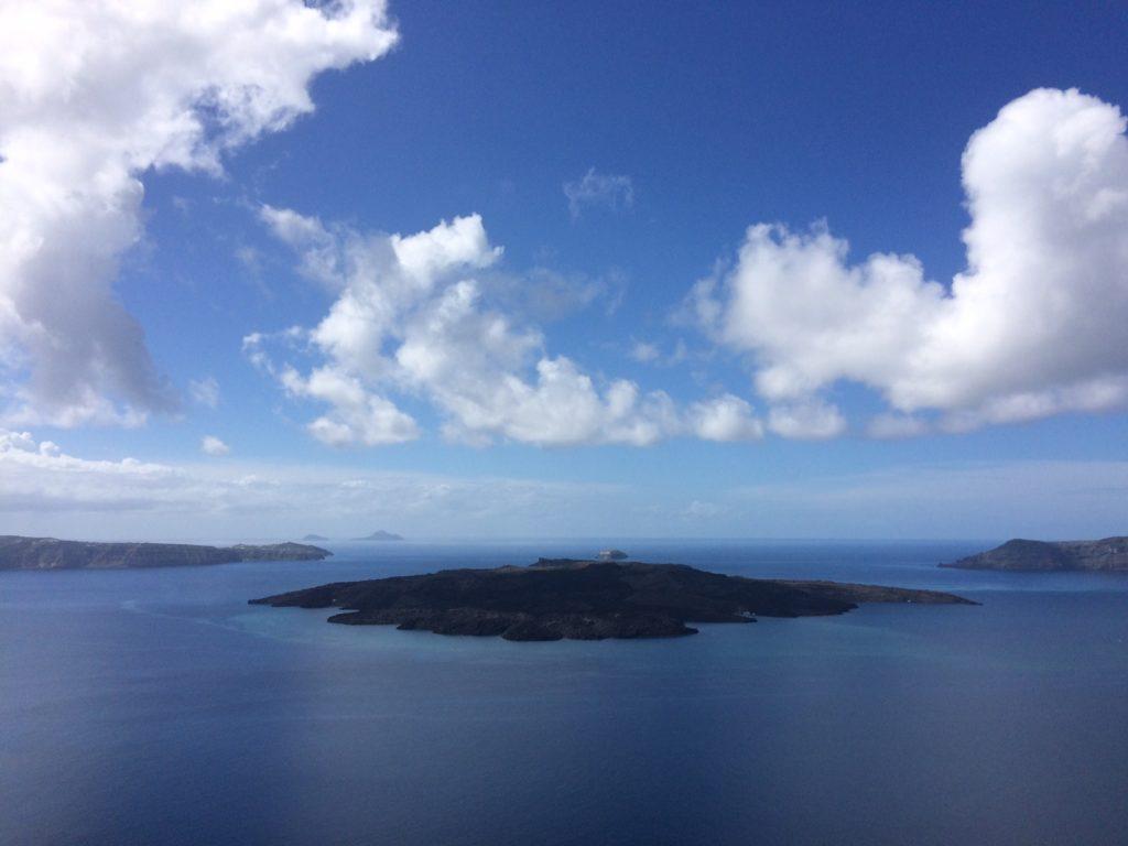 Stunning view of Caldera from Akrotiri, Santorini