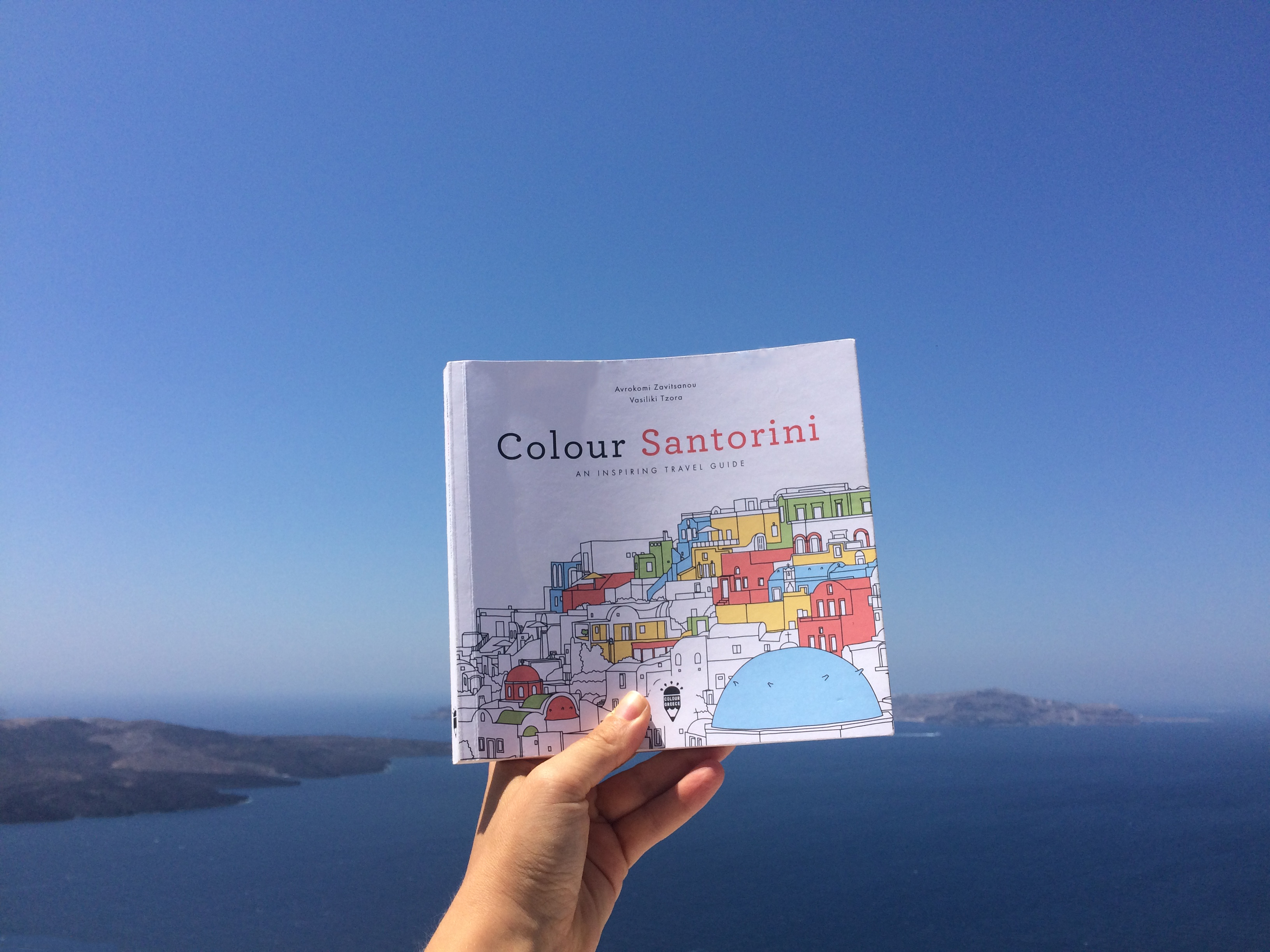 Colour Greece are colouring books about Greece designed by two young greek designers