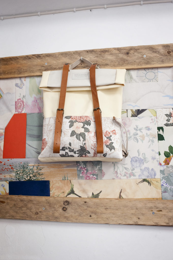 3quarters design handmade recycled bags in Athens
