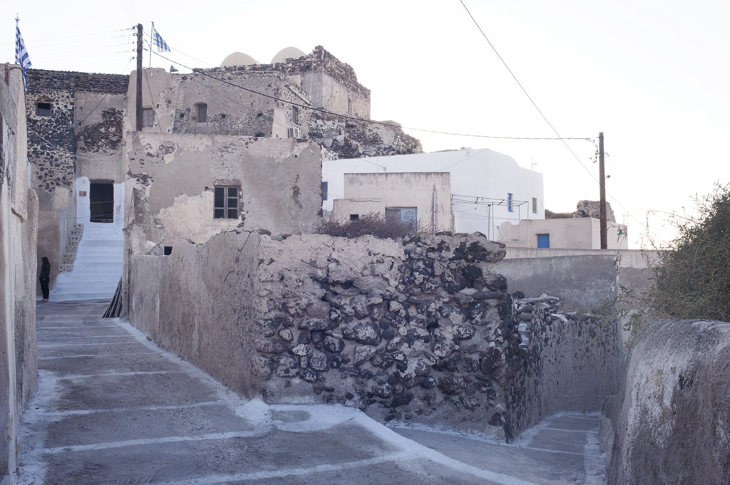 Akrotiri, south village in Santorini, Cyclades