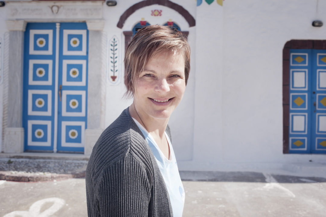 Kathrin Vogel founder of Santorini Experts