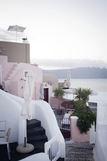 Visiting Oia during the sunset