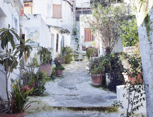 Anafiotika, a cycladic island in the center of Athens, under the Acropolis