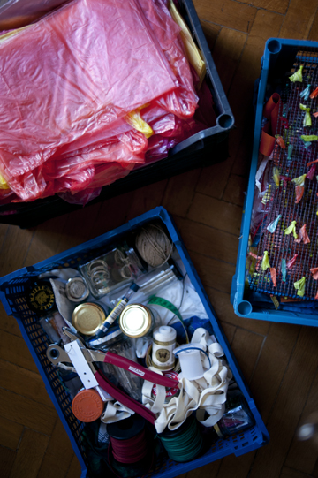 Diti Kotecha aka Thela with her Plastic Upcycling project