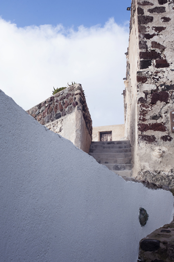 The Castle of Akrotiri in Santorini