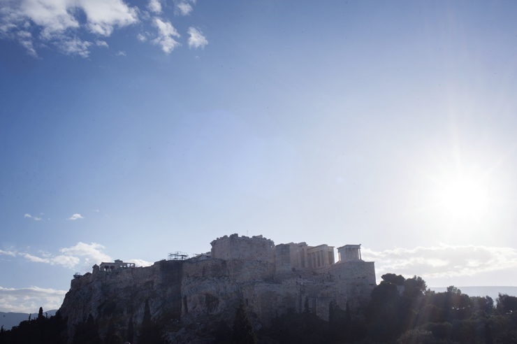 A walk around the Acropolis in Athens