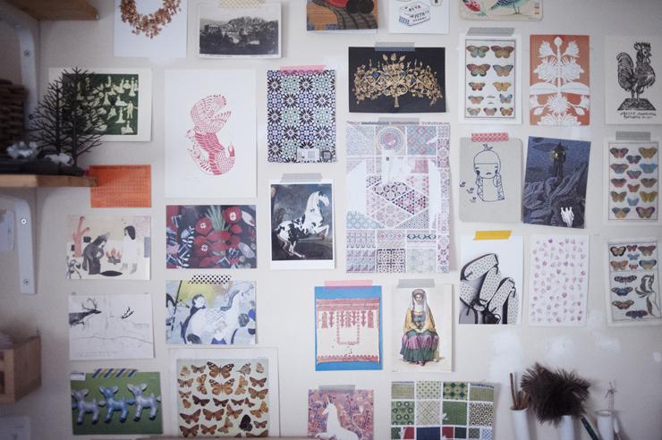 Lila Ruby King's studio