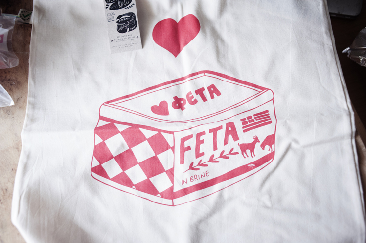 Feta toe bag by Lila Ruby King