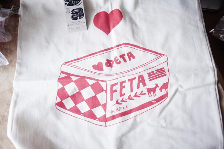 Feta toe bag by Lila Ruby King