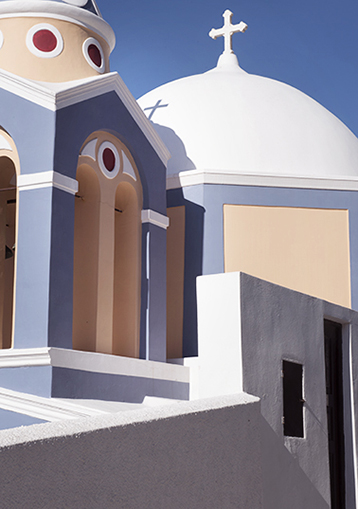 Church in Fira, the capital of Santorini