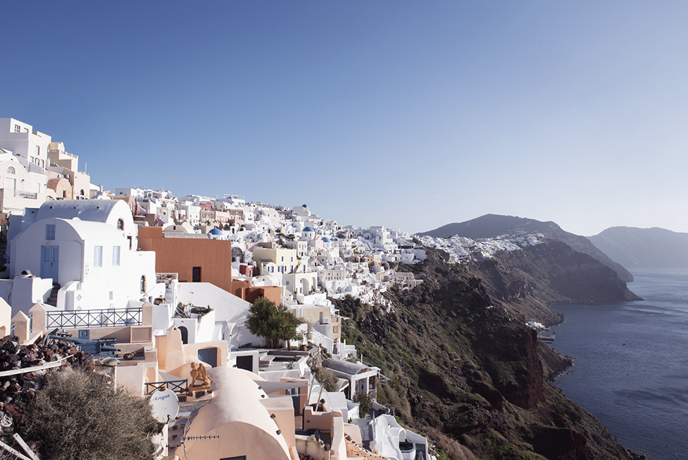 Oia, the most famous village of Santorini, in winter