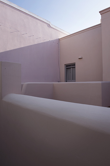 Detail of a house in Oia, Santorini