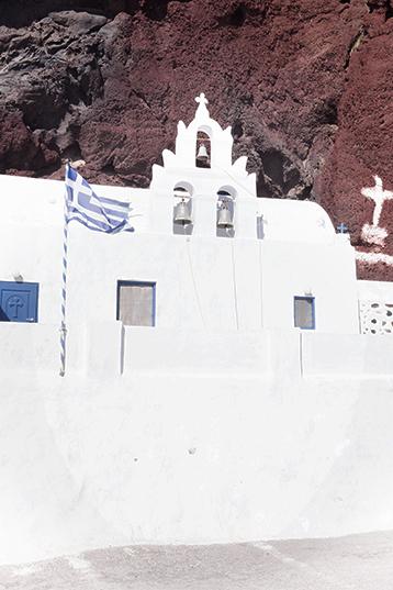 St. Nicholas church at the Red Beach in Santorini