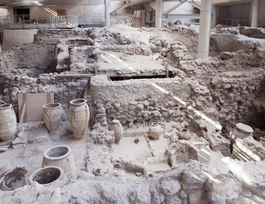 The Archeological site of Akrotiri, Santorini