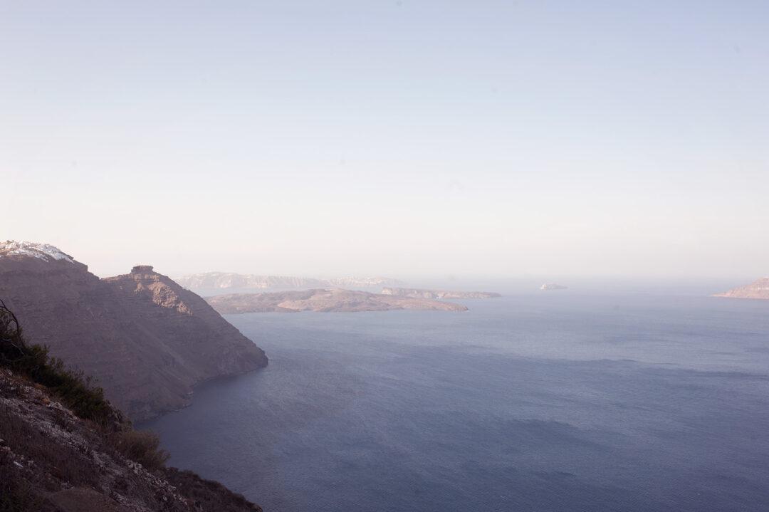 The beauty of the Caldera of Santorini
