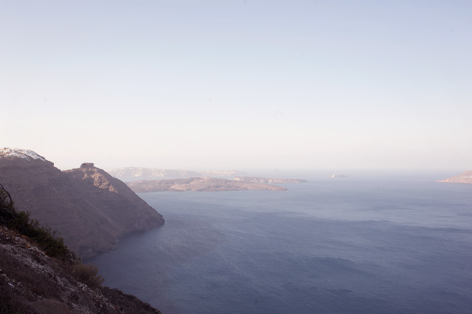 The beauty of the Caldera of Santorini